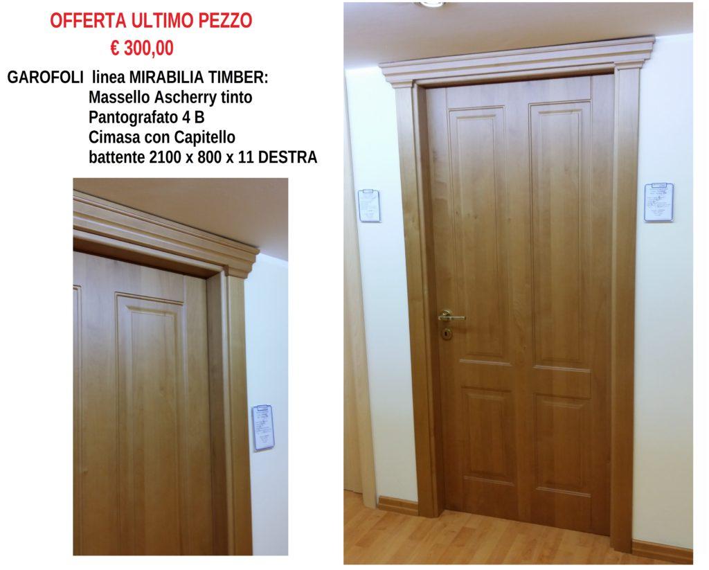 GAROFOLI MIRABILIA TIMBER MASSELLO PANTOGRAFAFTO ASCHERRY TINTO + CIMASA DA 210 x 80 x 11 DESTRA