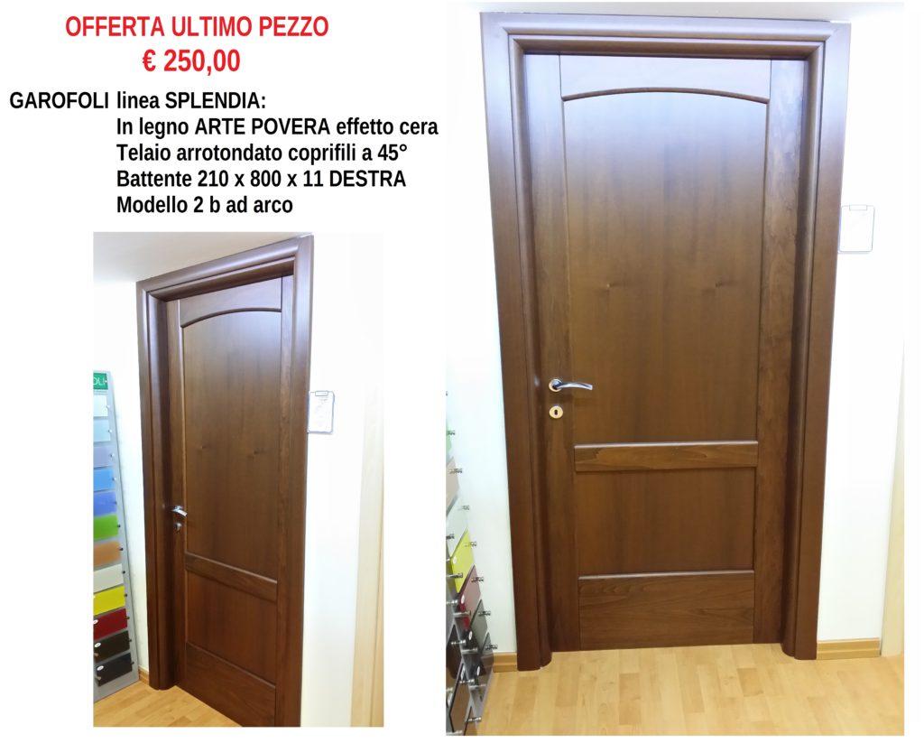 Porta GAROFOLI linea SPLENDIA in legno ARTE POVERA battente 210 x 80 x 11 DESTRA